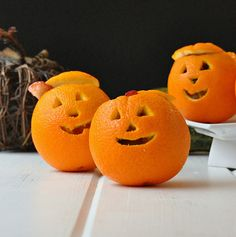 Snack-o'-Lantern Fruit Cups