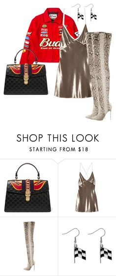 """""""Sans titre #337"""" by augustinedkm ❤ liked on Polyvore featuring Gucci, Marc Jacobs, Christian Louboutin and Carolina Glamour Collection"""
