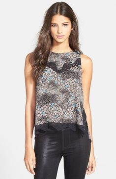 ASTR Lace Detail High/Low Tank available at #Nordstrom