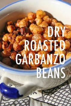 Garbanzo beans aren't just for hummus anymore. Once you try this easy roasted garbanzo beans recipe, you're guaranteed to crave the crunch of this satisfying, naturally vegan and gluten-free snack. Roasted Garbonzo Beans, Oven Roasted Chickpeas, Garbanzo Bean Recipes, Cooking Garbanzo Beans, Cooking Dried Beans, Chickpea Recipes, Dry Beans Recipe, Bean Chips, Chickpeas