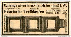 Original-Werbung/ Anzeige 1903 - EWARTSCHE TREIBKETTEN / LANGEWIESCHE SCHWELM - ca 100 x 45 mm