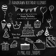 Arts And Crafts For Seniors Info: 4834083269 Chalkboard Clipart, Chalkboard Doodles, Chalkboard Designs, Chalkboard Art, Chalk Lettering, Doodle Lettering, Creative Lettering, Happy Birthday Chalkboard, Chalk Design