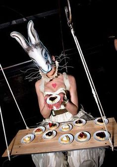 A White Rabbit serving sweet treats.