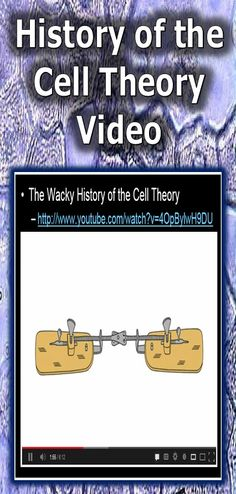 This is a nice video that helps explain the wacky history of the cell theory by Lauren Royal (Ted talk).  It's a nice review of the theory and important scientists that helped create it. Enjoy!-Science from Murf LLC