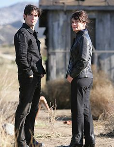 "Heroes - Season 3 - ""1961"" - Milo Ventimiglia as Peter Petrelli and Cristine Rose as Angela Petrelli"