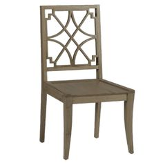 This is a classic dining chair updated for today's modern family. Finely crafted of solid oak, it  is a sturdy and beautiful example of transitional dining room furniture. You could pair a number of these chairs with a vintage oak table for an instantly elegant look.   Materials: Oak Finish: Natural Oak  *Minimum Quantity: (2)