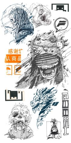 Sketches on Behance Cool Sketches, Drawing Sketches, Art Drawings, Cyberpunk Character, Cyberpunk Art, Graphic Design Illustration, Illustration Art, Character Art, Character Design