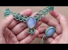A Different Macrame Style of Adding a New Color Around Your Cabochon - YouTube