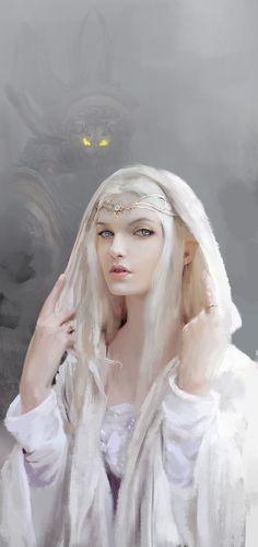 """white elf queen"" | JuanMao                                                                                                                                                                                 More"