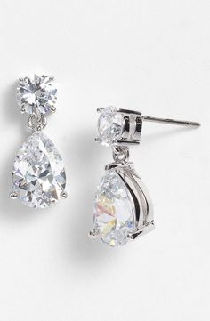 Free shipping and returns on Nadri Cubic Zirconia Teardrop Earrings at Nordstrom.com. Prong-set cubic zirconia projects blinding sparkle from otherwise understated drop earrings.