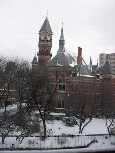 Jefferson Market Library - West Village - New York, NY (A prison called the Women's House of Detention used to be on the area where the park is now. When I was a kid, I used to hear exchanges between women in the windows & men on the street!)