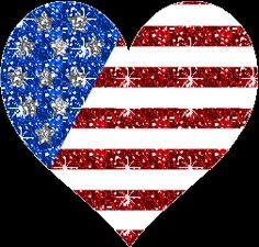 GIF-(Coração em formato da bandeira do Estados Unidos)