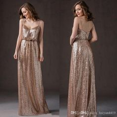 Gold Sequins Bridesmaid Dresses 2017 New Bling For Weddings Spaghetti Straps A Line Long Floor Length Plus Size Formal Maid of Honor Gowns Bridesmaid Dress Under 100 Sequins Bridesmaid Dresses Long Bridesmaid Dresses Online with 100.0/Piece on Haiyan4419's Store   DHgate.com