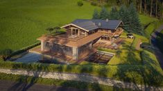 Chalet Design, Cabin Homes, Villa, Exterior, Mansions, Interior Design, Architecture, House Styles, Awesome