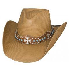 fe53623d23e62 Bullhide Cowboy Hat Walk of Life Shantung Panama Straw Cowboy Hat Western  Hats