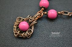 Wire wrap necklace on Vorobev. Wire wrap tutorial. Go to the blog Rukodel - http://magazin-rukodel.ru/