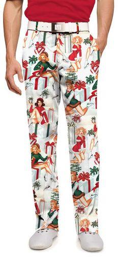 Loudmouth's white Ho! Ho! Ho! men's pants