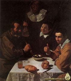 Velázquez. El almuerzo. 1617-18