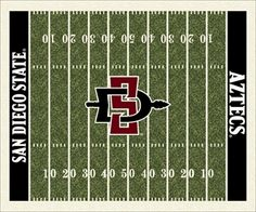 San Diego State Aztecs Home Field Rug in San Diego State Aztecs (End Zone Color: Black) from ACWG