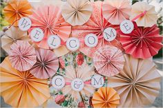 receptions, pinwheels, wedding photos, wedding blog, photo booths, pink, papers, peaches, backdrop