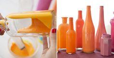 How to Make Painted Bottle Vases - DIY & Crafts - Handimania
