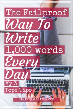 The Failproof Way To Write Words Every Day. Writing 1000 words every day is hard.The good news is: it can be made easier.with these three top tips. Book Writing Tips, Start Writing, Writing Resources, Writing Prompts, Writing Quotes, Writing Software, Writing Lessons, Writing Ideas, Cards For Men
