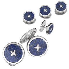 Classic Button Tuxedo Formal Set - Cuff Links and Studs | Jan Leslie Cuff Links and Accessories