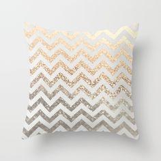 GOLD & SILVER Throw Pillow by Monika Strigel   Society6