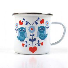 Enamel Owl Mug