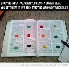 Studying incentive/trick. Going to use this a revision technique!!