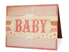 Card embossed with Whimsy embossing folder by Lifestyle Crafts. #card