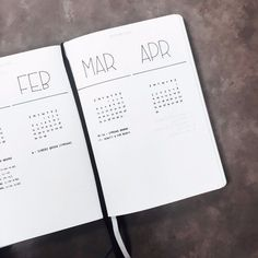 Simple monthly bullet journal layout