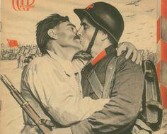 El Lissitzky (1890-1941) y Sophie Lissitzky-Küppers (1891-1978) Revista « SSSR na stroike » (URSS en Construcción), n.o 2-3 Iskusstvo, Moscú, 1940 Huecograbado y tipografía, 42 x 30 cm Fundación José María Castañé, Madrid.