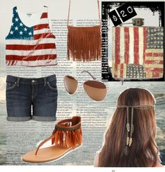 """Stars and Stripes"" by liquidcourage on Polyvore"