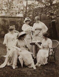 Back garden tea party, 1912 Source