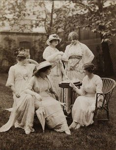 Back garden tea party, 1912