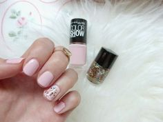 NAIL DIARY: BABYPINK AND GLITTER