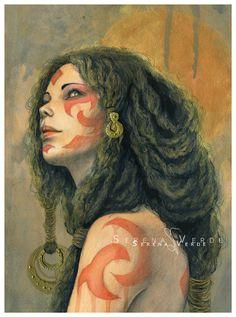 Gaia by Serena Verde   Sketches   ImagineFX