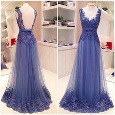 Royal Blue Celebrity Prom Dresses Evening Gowns pst0181