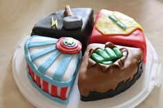 Avengers Cake this is good for jake cause he can't have red