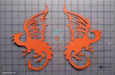 Orange Cut Dragons
