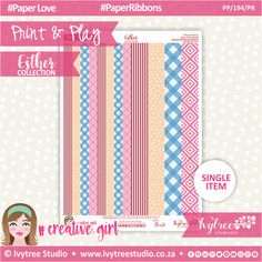 PP/194/PR - Print&Play - PAPER RIBBONS - Esther Collection