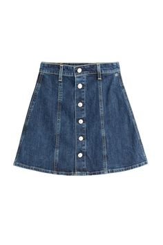 What To Buy From Alexa Chung's New Collection #refinery29 http://www.refinery29.com/2015/01/80767/alexa-chung-clothing-line-launch#slide-7 Alexa wears a denim mini skirt; we must wear a denim mini skirt.