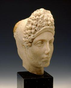 Roman [Flavian Period], Head of a Noble Woman, 96–100 AD. Pentelic Marble.