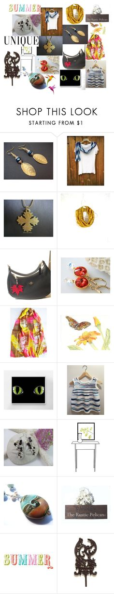 """""""Summer Uniques"""" by anna-recycle ❤ liked on Polyvore featuring modern, rustic and vintage"""