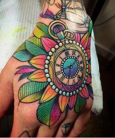 #Tattoo by @kshocs  ##Equilattera #tattoos #tat #tatuaje #time #clock #life #miamitattoo #miami #mia #florida #miamibeach #wynwood #love #beautiful #cute #watercolor #painting #colorful #drawing #mandala #handtattoo #linework #watercolortattoo #ink #art #design #illustration by equilattera