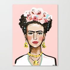 Frida+Kahlo+Canvas+Print+by+Devinepaintings+-+$85.00
