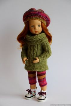 Осенняя прогулка. Игровые куклы Sylvia Natterer & Petitcollin, Minouche. Одежда своими руками / Куклы Sylvia Natterer, Minouche и другие. Kathe Kruse и Petitcollin / Бэйбики. Куклы фото. Одежда для кукол