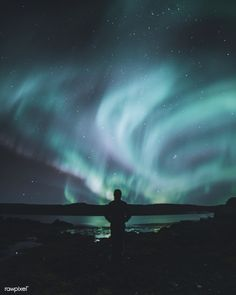 Northern Light At Westfjords Iceland Free Image By Rawpixel Lights
