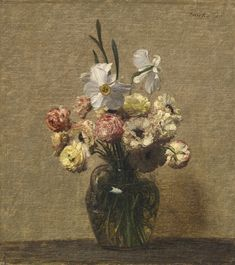 Henri Fantin-Latour (1836-1904), RENONCULES ET NARCISSES, 1880.  Sold at Sotheby's in May 2014, for $695,000 USD.